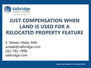 Changes in USPAP  and the 14 th  Edition S. Steven Vitale, MAI svitale@valbridge.com 262-782-7990  valbridge.com