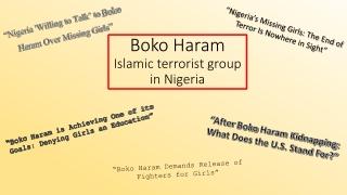 Boko  Haram Islamic terrorist group in Nigeria