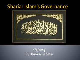 Sharia : Islam's Governance