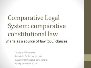 Comparative Legal System: comparative constitutional law