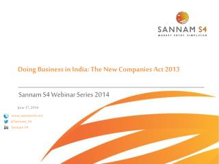 Doing  Business in  India: The  New Companies  Act 2013