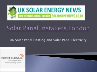 Solar Panel Installation London