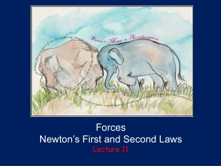 Forces Newton's First and Second Laws Lecture 11