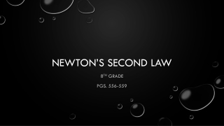 Newton�s Second Law