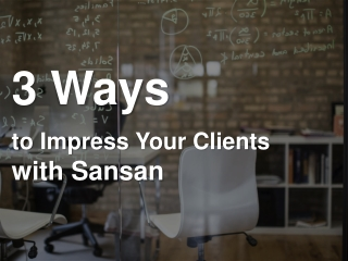[Tips] 3 ways to impress your clients with sansan