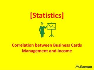 [Statistics] sansan correlation between business cards manag