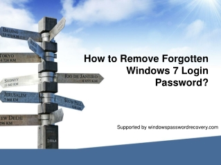 How to remove Windows 7 password without disk?