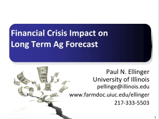 Financial Crisis Impact on  Long Term Ag Forecast
