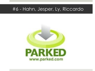 #6  - Hahn ,  Jesper, Ly,  Riccardo