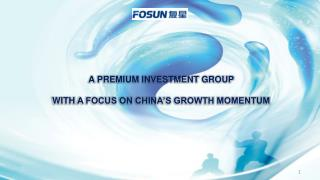 A PREMIUM INVESTMENT GROUP  WITH  A FOCUS ON CHINA'S GROWTH MOMENTUM