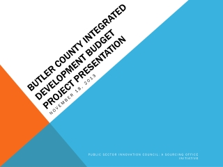 Butler County integrated development budget project presentation