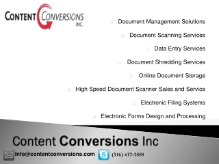 Document Management Solutions|Data Entry