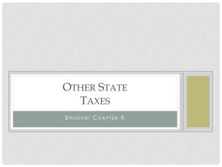 Other State Taxes