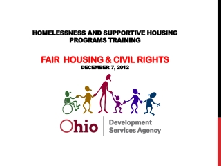 Homelessness  and Supportive Housing  Programs Training Fair  Housing & Civil Rights December 7, 2012