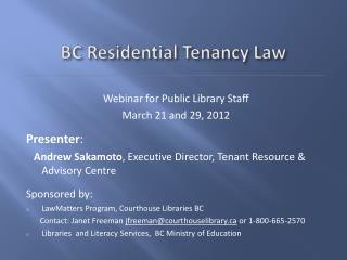BC Residential Tenancy Law