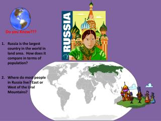 Russia  is the largest country in the world in land area.  How does it compare in terms of population?