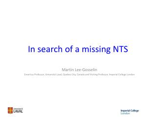 In search of a missing NTS
