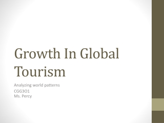 Growth In Global Tourism