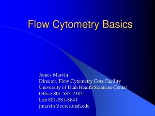 Flow  Cytometry  Basics