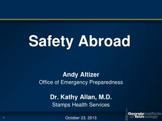 Safety Abroad