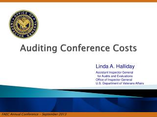 Auditing Conference Costs