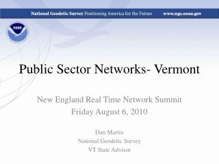 Public Sector Networks- Vermont