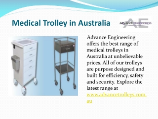 Medical Trolley in Australia