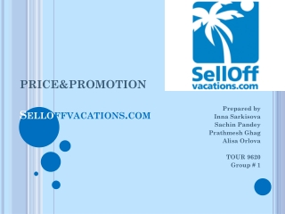 PRICE&PROMOTION Sello ffvacations.com