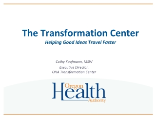 The Transformation Center Helping Good Ideas Travel Faster
