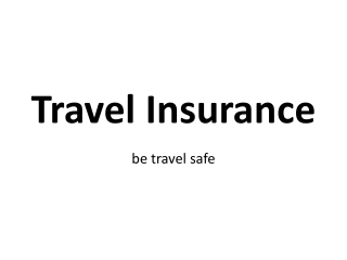 Ppt 5 Key Benefits Of Travel Insurance Powerpoint