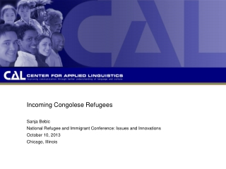 Incoming Congolese Refugees