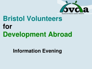 Bristol Volunteers for  Development Abroad