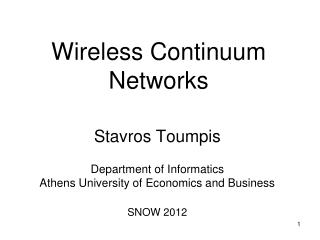 Wireless Continuum Networks