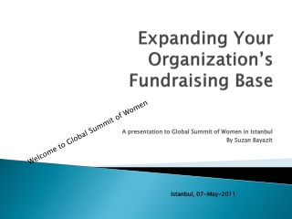 Expanding Your Organization's Fundraising Base