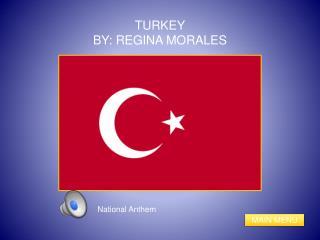 TURKEY BY: REGINA MORALES
