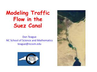 Modeling Traffic Flow in the  Suez Canal
