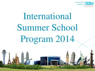 International Summer School Program 2014