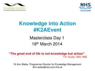Knowledge into  Action #K2AEvent