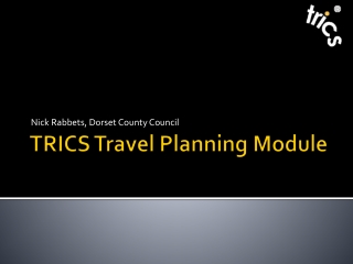 TRICS  Travel Planning Module