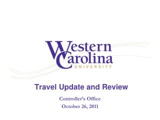 Travel Update and Review
