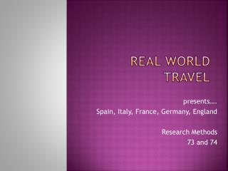 Real World Travel