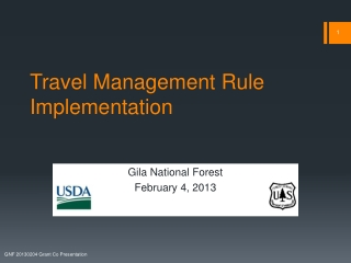 Travel Management Rule Implementation