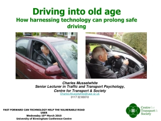 Driving into old age How  harnessing technology can prolong safe driving
