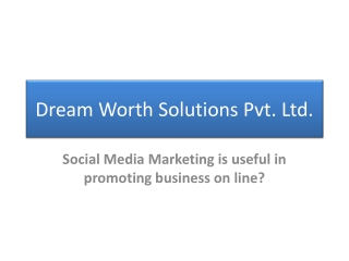 Dream Worth Solutions | Online Marketing Company in Maharash