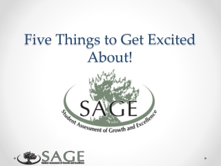 Five Things to Get Excited About!