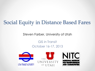 Social Equity in Distance Based Fares