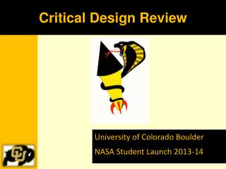 University of Colorado Boulder NASA Student Launch 2013-14