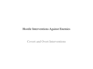 Hostile Interventions Against Enemies