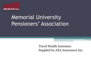 Memorial University Pensioners' Association