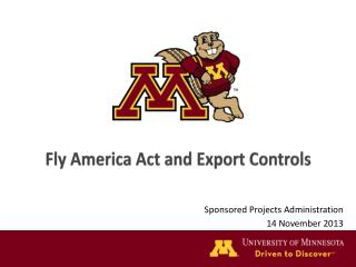Fly America Act and Export Controls